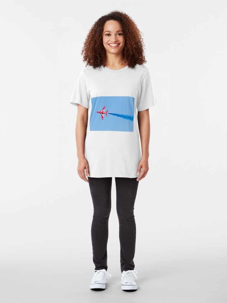 Alternate view of RAF Red Arrows Hawk Jet Aircraft Slim Fit T-Shirt