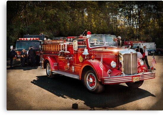 Fireman - The Procession  by Michael Savad
