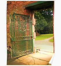 Green Gate Red Wall Poster