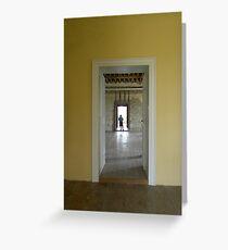 Boy in the Doorway, Kirby Hall Greeting Card