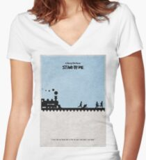 Stand by Me Women's Fitted V-Neck T-Shirt