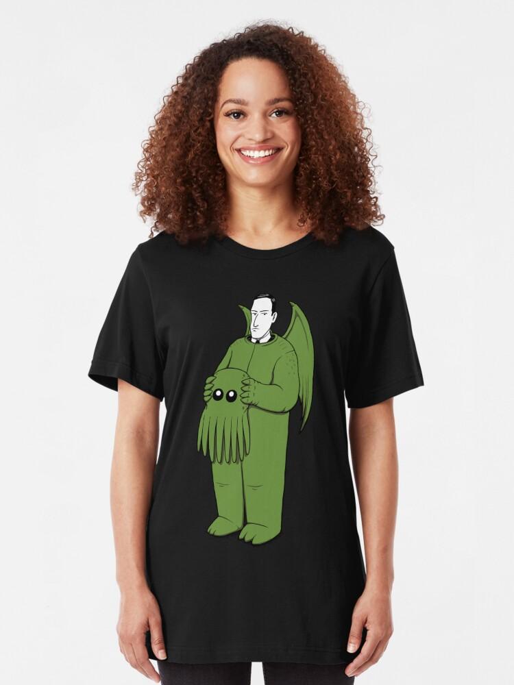 Alternative Ansicht von Cthulhu Mascot Slim Fit T-Shirt