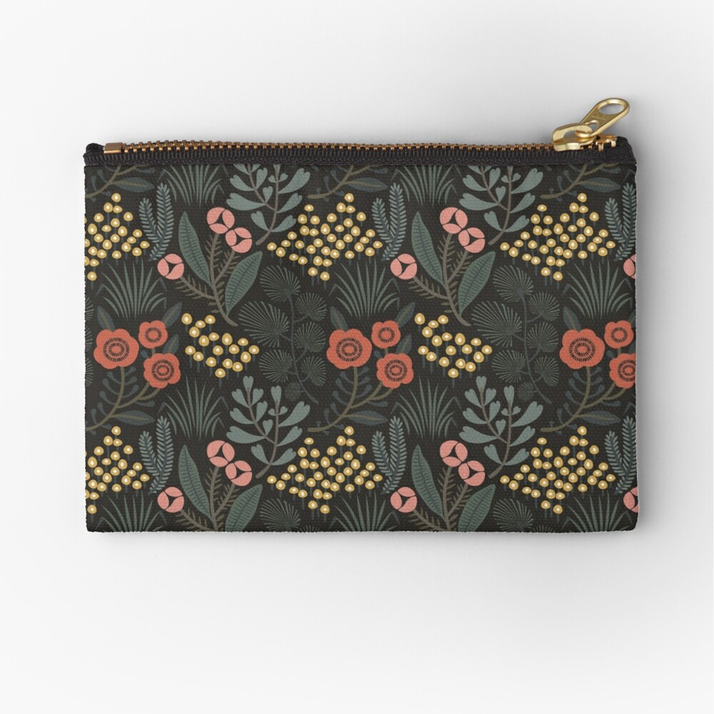 Night Garden Zipper Pouch