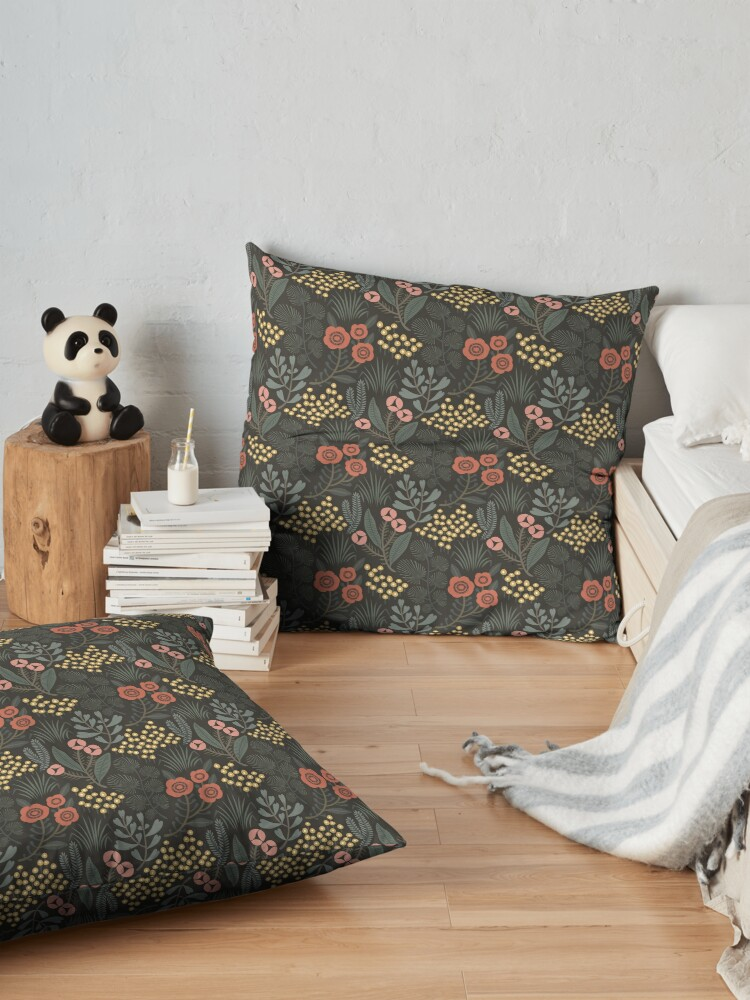 Alternate view of Night Garden Floor Pillow