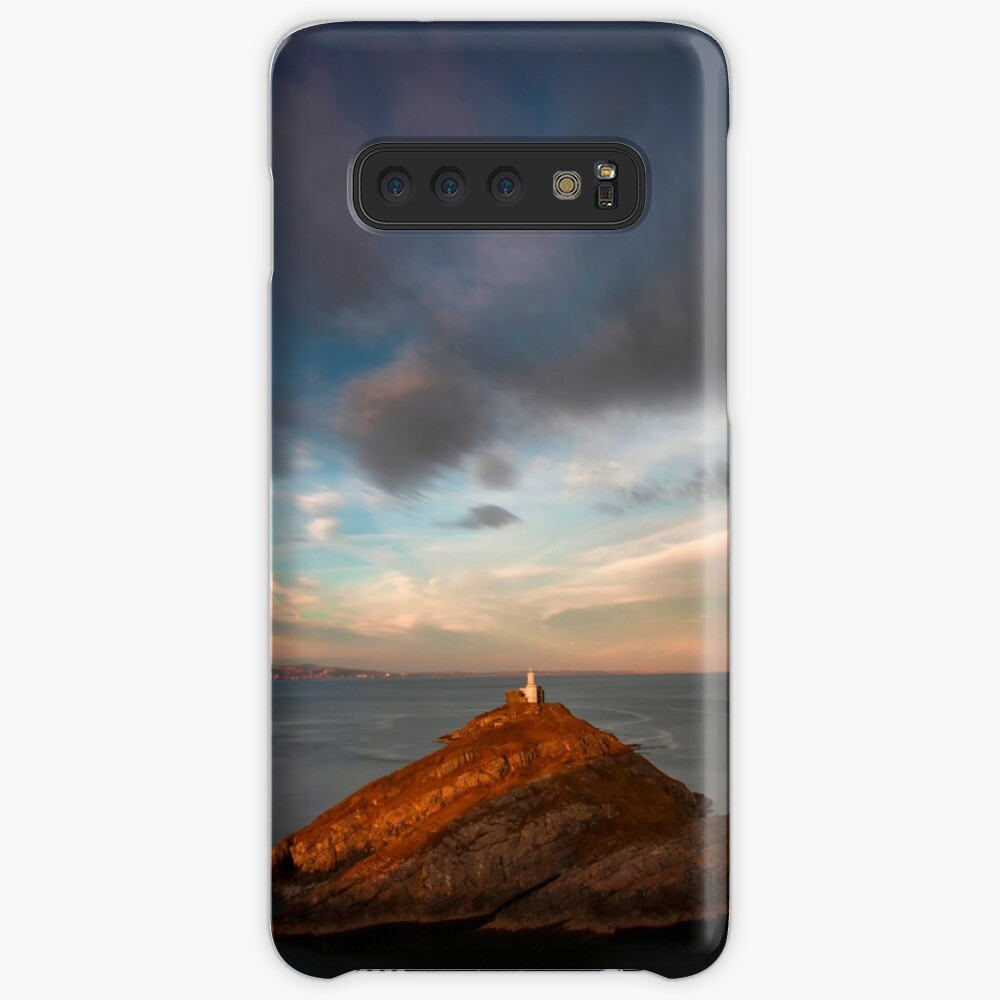 Sunlight on Mumbles Lighthouse Case & Skin for Samsung Galaxy
