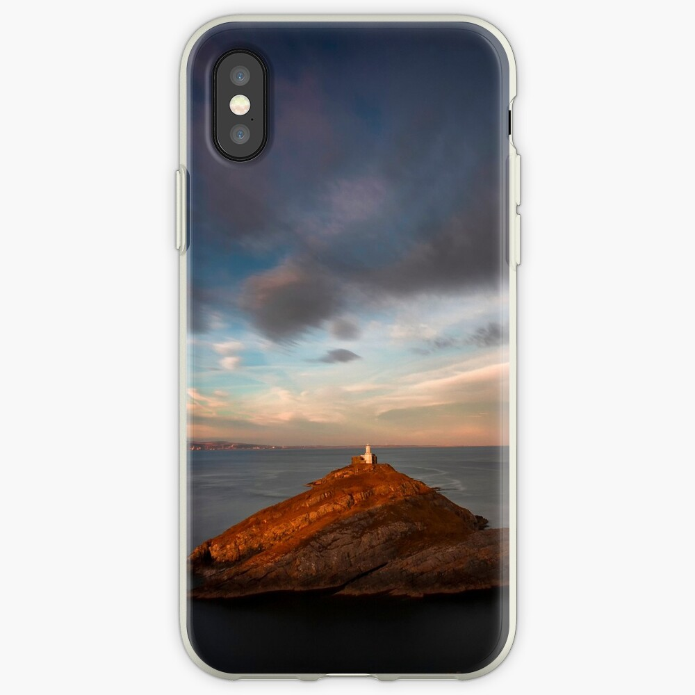 Sunlight on Mumbles Lighthouse iPhone Case & Cover