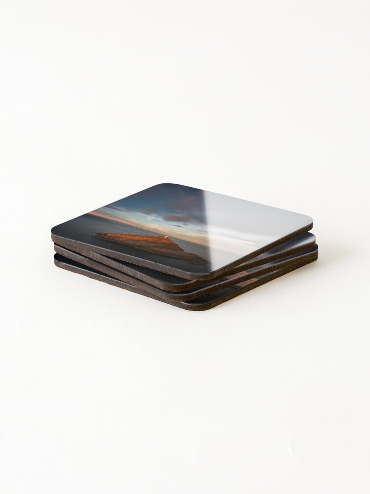 Alternate view of Sunlight on Mumbles Lighthouse Coasters (Set of 4)