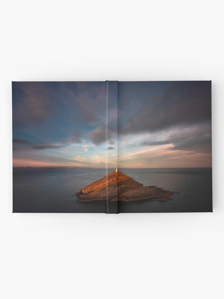 Alternate view of Sunlight on Mumbles Lighthouse Hardcover Journal