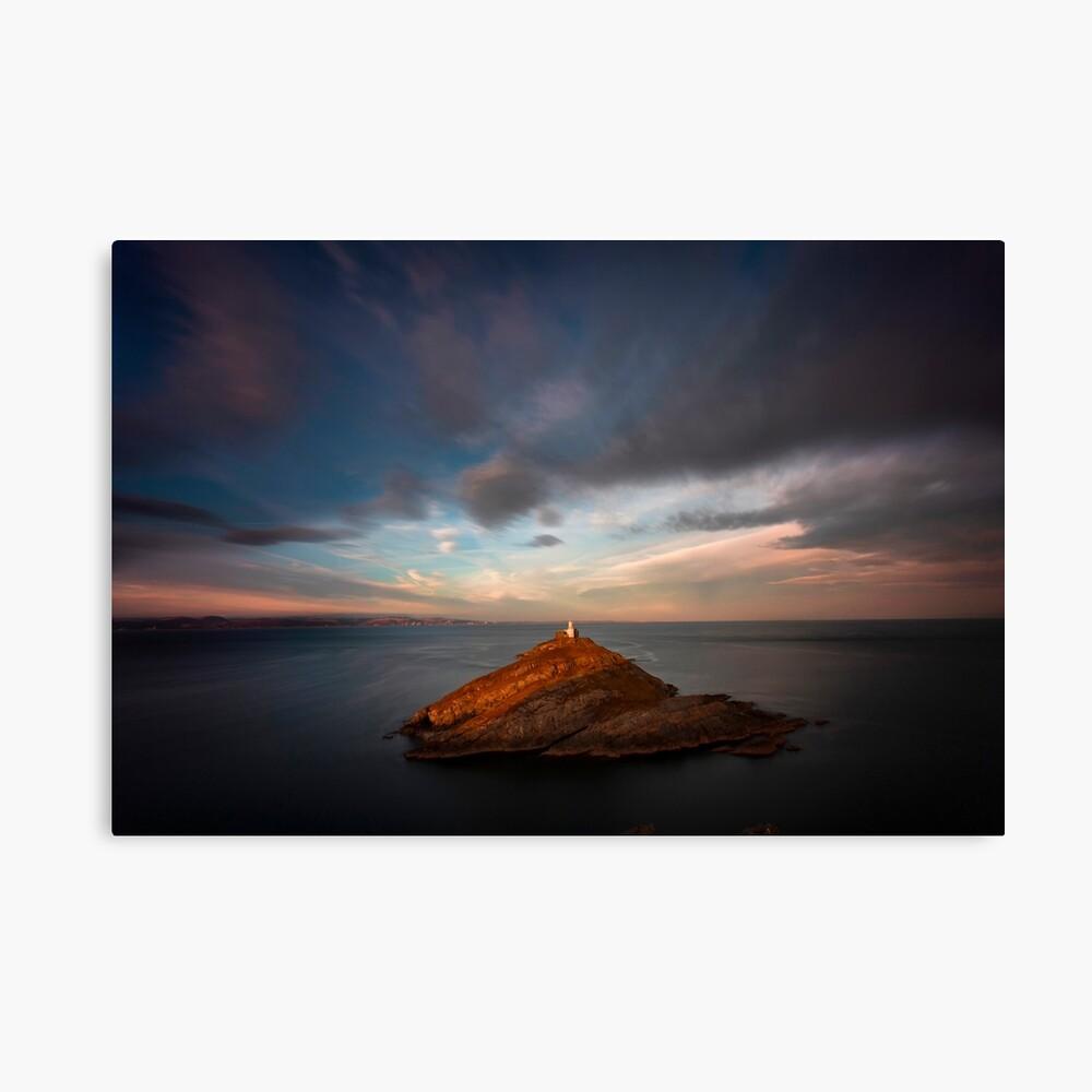 Sunlight on Mumbles Lighthouse Canvas Print