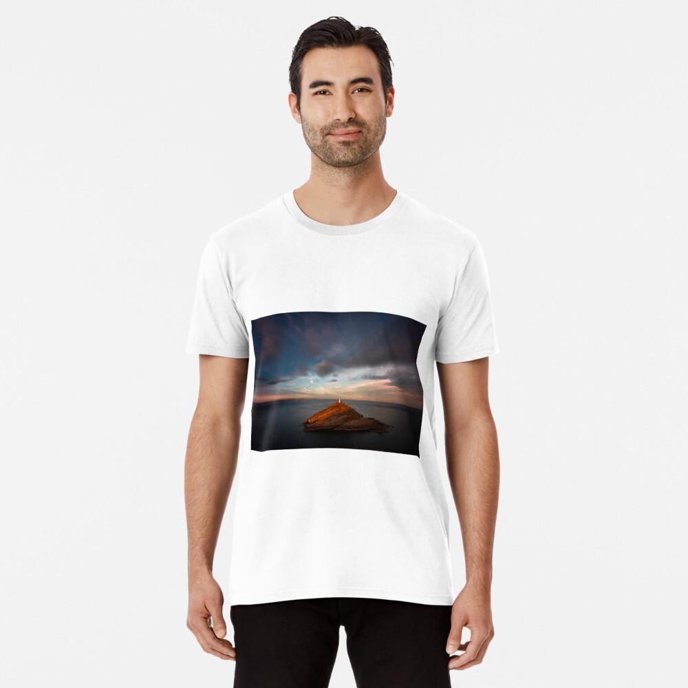 Sunlight on Mumbles Lighthouse Premium T-Shirt