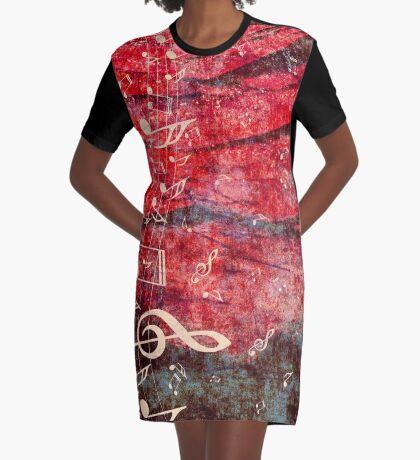 Klaviertastatur mit Musik merkt Grunge 2 T-Shirt Kleid