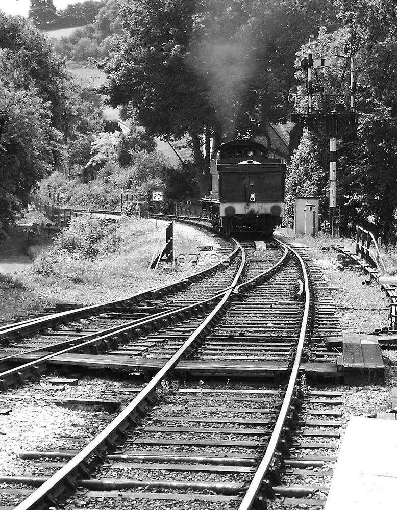 Locomotive 3205 Crossing the Points by lezvee