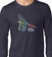 Great Green Macaw Print - Macaw Recovery Network  Long Sleeve T-Shirt