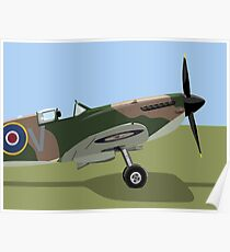 Spitfire WW2 Fighter Poster
