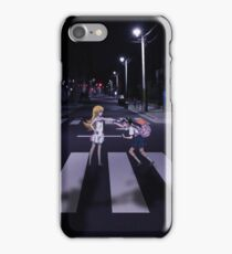 Monogatari – Mayoi and Shinobu crosswalk iPhone Case/Skin