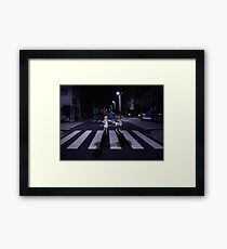 Monogatari – Mayoi and Shinobu crosswalk Framed Print