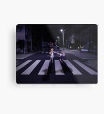 Monogatari – Mayoi and Shinobu crosswalk Metal Print