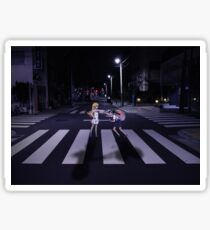 Monogatari – Mayoi and Shinobu crosswalk Sticker