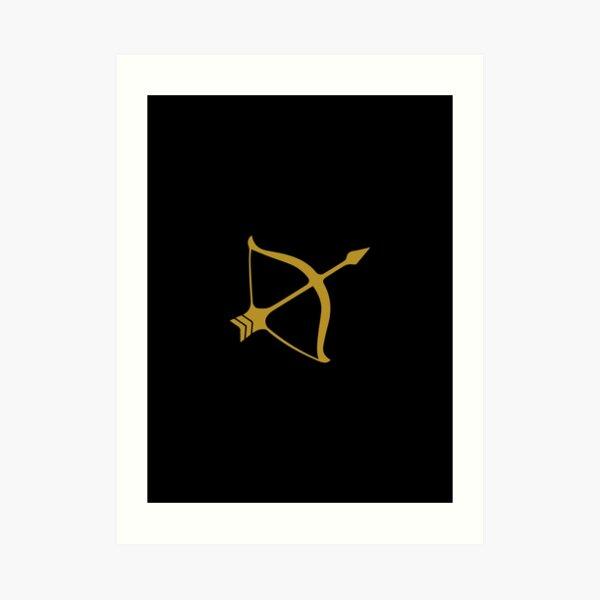 Sagittarius - Zodiac Symbols Art Print