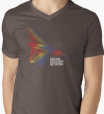 Scarlet Macaw Print - Macaw Recovery Network  V-Neck T-Shirt