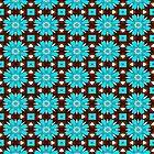 Türkisfarbene Rosen von Yamy Morrell  Art and Design