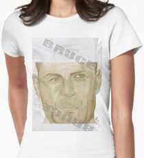 Mr. Die Hard Womens Fitted T-Shirt