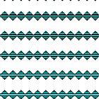 Türkisfarbene Geostreifen von Yamy Morrell  Art and Design