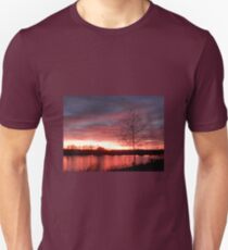 Red Autumn Sunset  T-Shirt