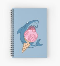 SHARK AND ICE CREAM Spiral Notebook