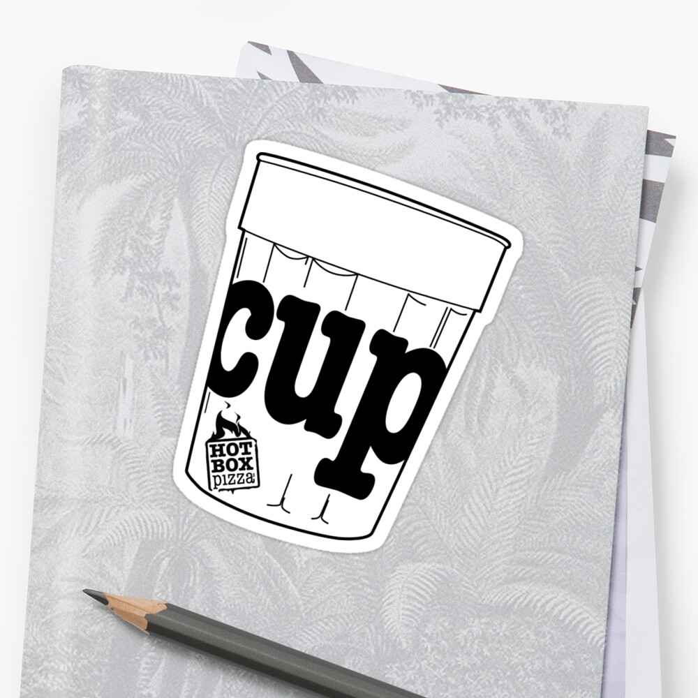 HotBox Cup-Black Sticker