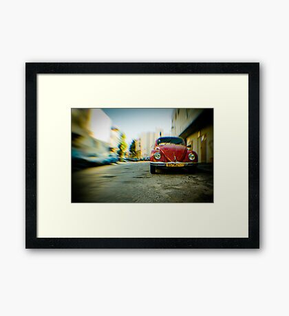 red Beetle Framed Print