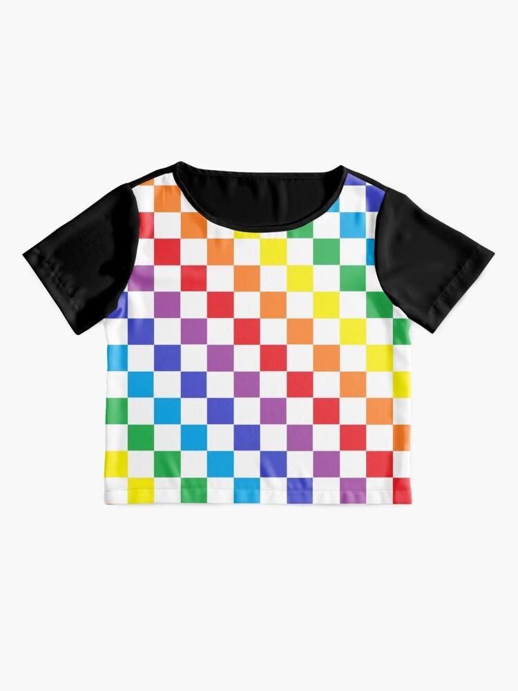 Alternate view of Checkered Rainbow  Chiffon Top