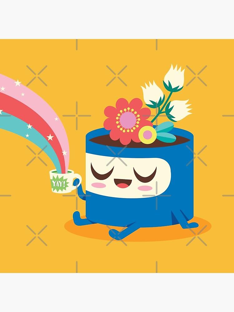 Flower Pot Head and Magic Tea by jsongdesign