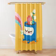 Flower Pot Head and Magic Tea Shower Curtain
