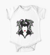 Maleficent (White) Baby Body Kurzarm