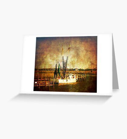 Old shrimp boat in Charleston Greeting Card