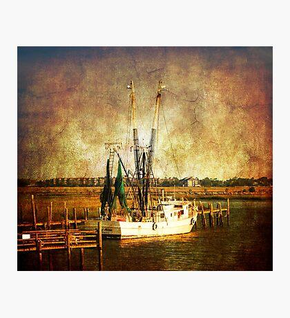 Old shrimp boat in Charleston Photographic Print