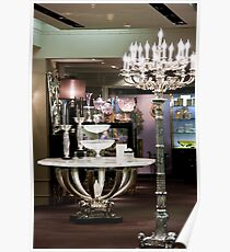 Candelabra, Crystal, & Silver Setting Poster