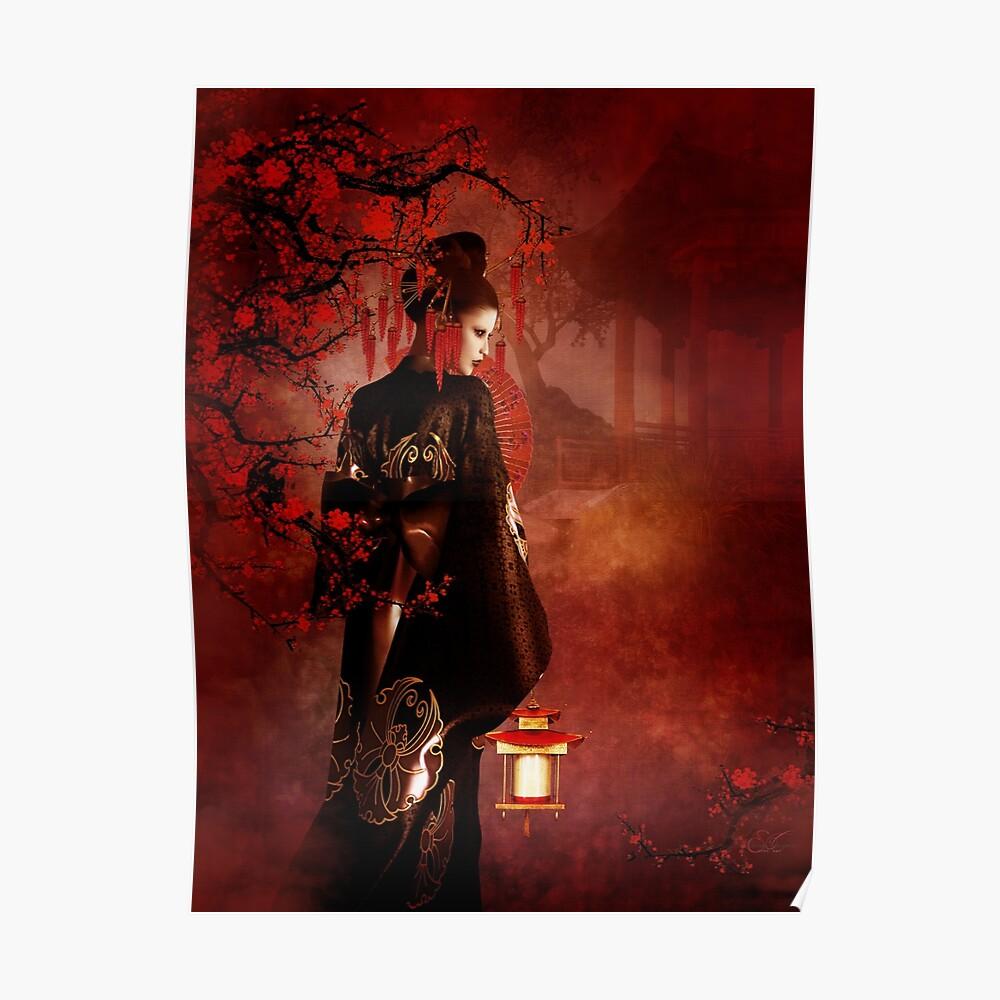 Sakura Rot Poster