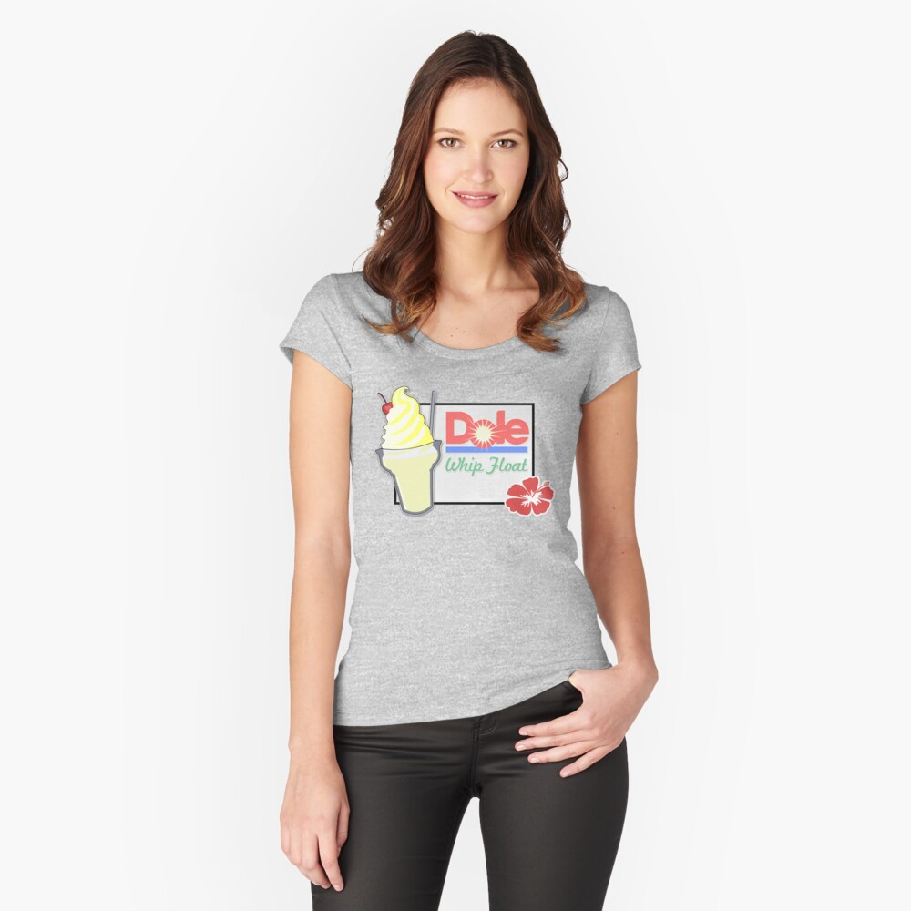 Dole Peitschenpose Tailliertes Rundhals-Shirt
