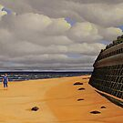 Sea Wall, Oil on Linen, 55.5x91cm by Jason Moad