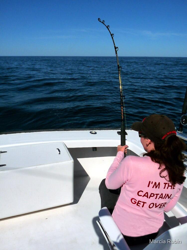 Striper fishing in Chesapeake Bay by Marcia Rubin