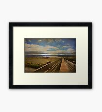 Trying to Bridge the Distance Framed Print