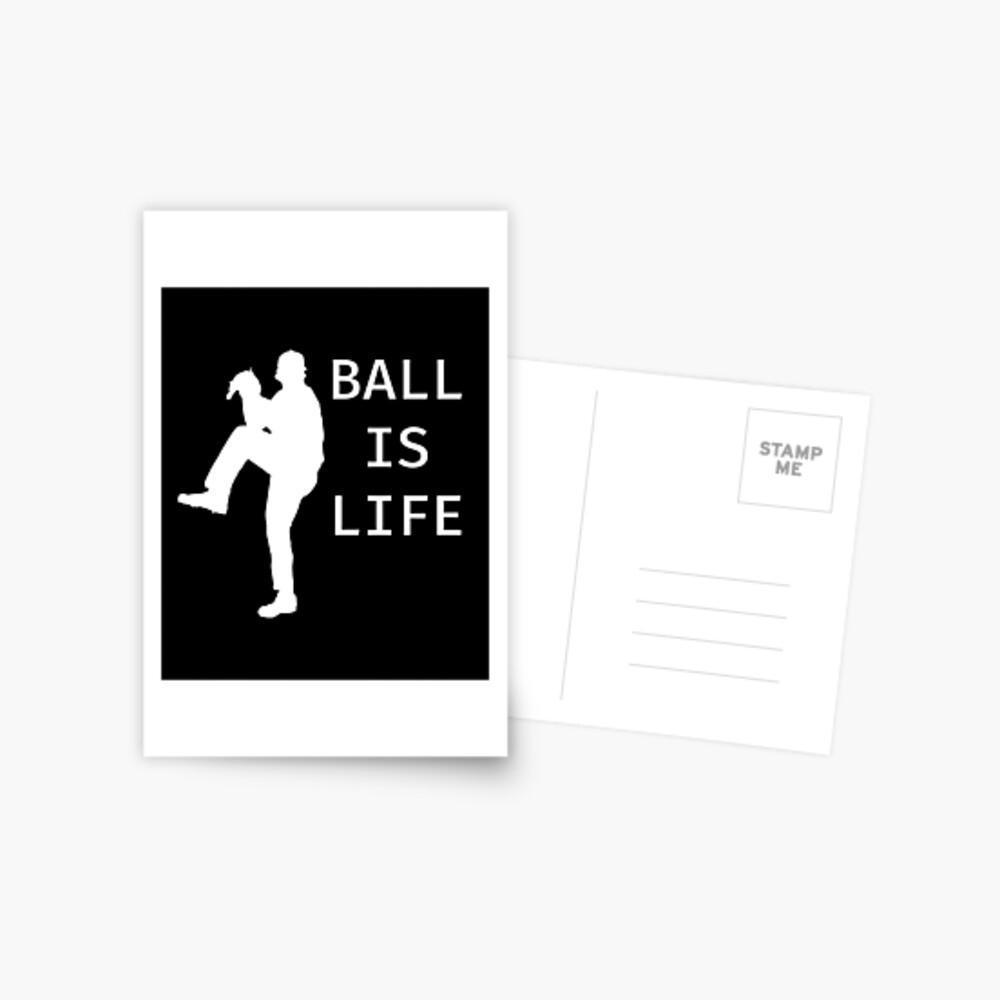 Ball Is Life - Baseball Youth Kids Funny Sports T Shirt Gift  Postkarte
