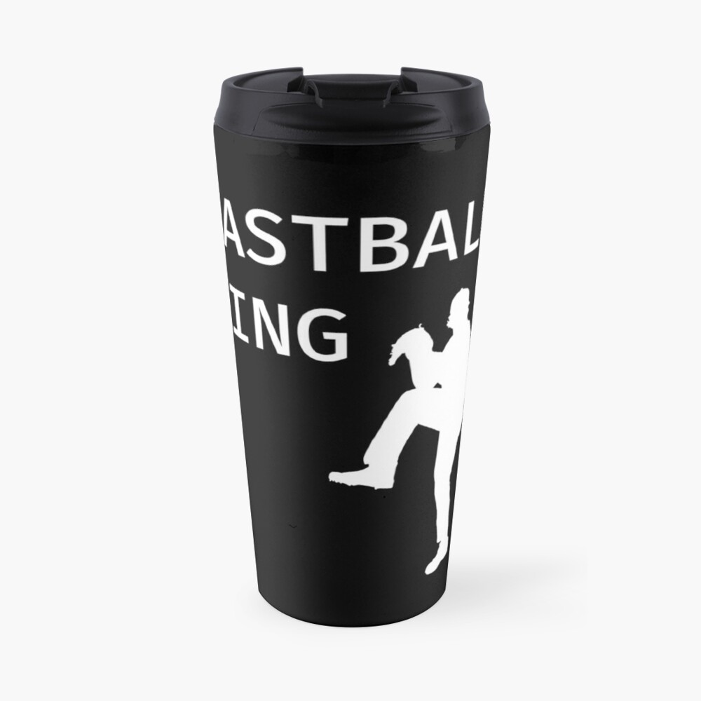 Fastball King - Baseball Youth Kids Funny Sports T Shirt Gift  Thermobecher