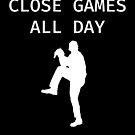 Close Games All Day - Baseball Youth Kids Funny Sports T Shirt Gift  von greatshirts