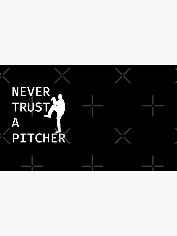 Never Trust A Pitcher - Baseball Youth Kids Funny Sports T Shirt Gift  von greatshirts