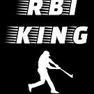 RBI King - Baseball Youth Kids Funny Sports T Shirt Gift  von greatshirts