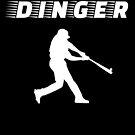 Dinger - Baseball Youth Kids Funny Sports T Shirt Gift  von greatshirts