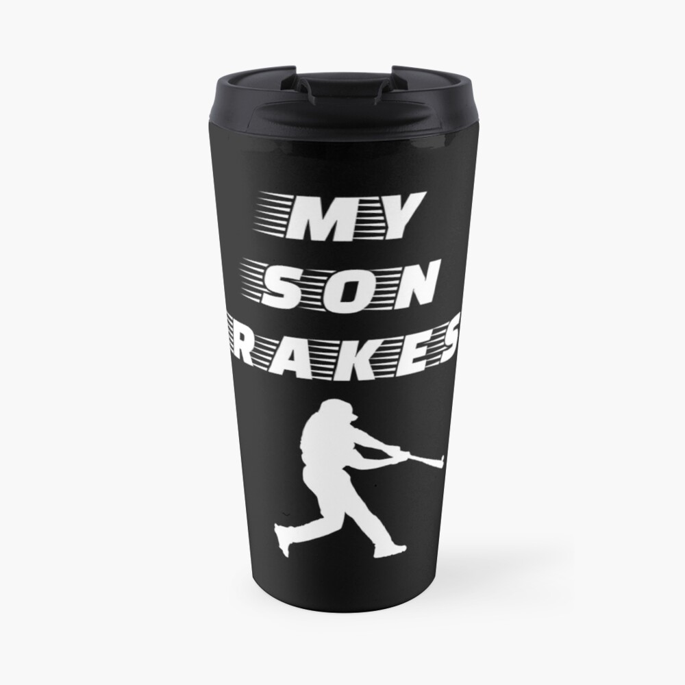 My Son Rakes - Baseball Youth Kids Funny Sports T Shirt Gift  Thermobecher